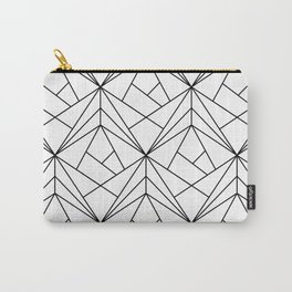Black and White Geometric Pattern Carry-All Pouch