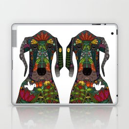 Great Dane love white Laptop & iPad Skin