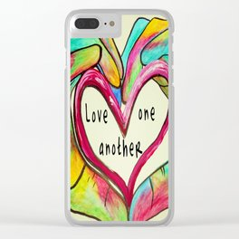 Love One Another John 13:34 Clear iPhone Case