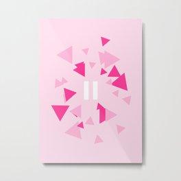 Opposite III Pause Pink Metal Print