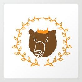 King of the Bears Art Print