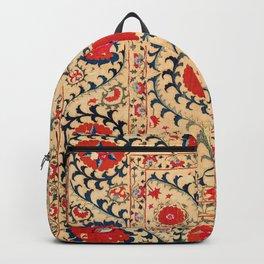 Samarkand Suzani Bokhara Uzbekistan Floral Embroidery Print Backpack