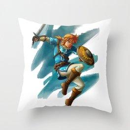 Link (The legend of Zelda Breath of the wild) Throw Pillow