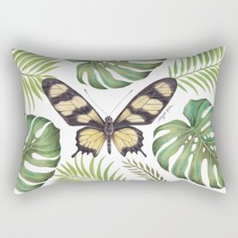 Butterfly Painting | Hahnel's Amazonian Swallowtail | PARIDES HAHNELI | Nature | Animal Art Rectangular Pillow