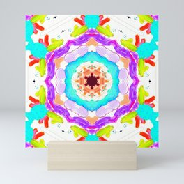 rise & shine mandala Mini Art Print