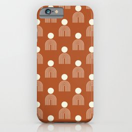 Full moon rainbow pattern collection SS02 iPhone Case