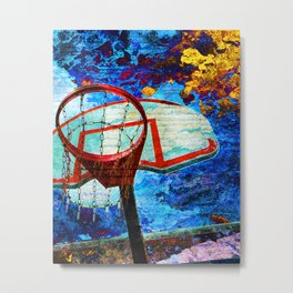 Colorful Modern Basketball Art Metal Print