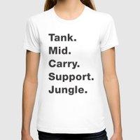 league T-shirts featuring League Shirt by hana prints