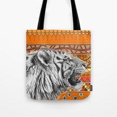 White tiger profile G001-012 Tote Bag
