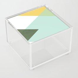 Geometrics - citrus & concrete Acrylic Box