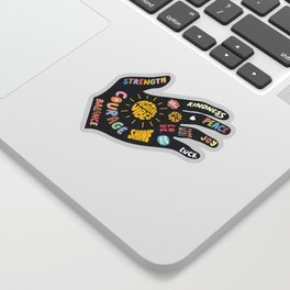 Positivity – Helping Hand Sticker