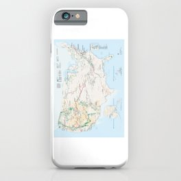 National Parks Trail Map iPhone Case
