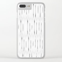 Minimalist vintage stripes pattern Clear iPhone Case