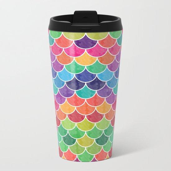 Watercolor Lovely Pattern VVXVI Metal Travel Mug