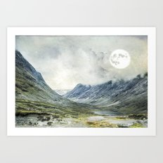 Supermoon in Norway Art Print