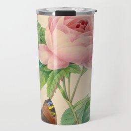 Selection of the most beautiful flowers Pink Rose - Pierre-Joseph Redouté - 1827 Travel Mug