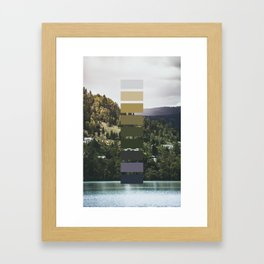 The sea, the land, the mountains Framed Art Print