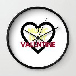 music is my valentine new 2018 14feb love heart Wall Clock