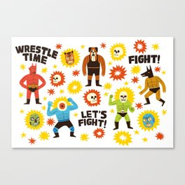 Wrestlers Canvas Print
