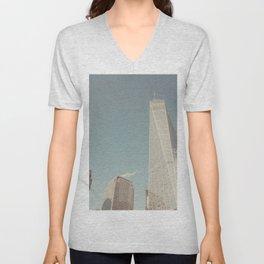 World Sky - New York City Unisex V-Neck