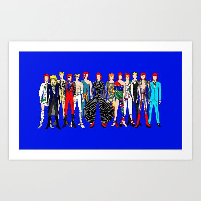 Blue Heroes Group Fashion Outfits Kunstdrucke