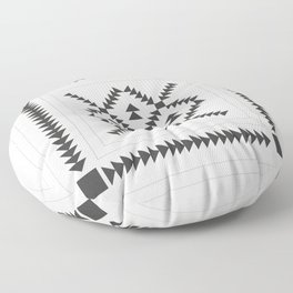 Black and White Quilt Block Floor Pillow