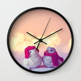 Happy Holidays, Christmas and Winter Photography Wall Clock