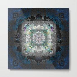 Enchanted Gothic Shadow Meditation Mandala Metal Print
