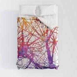 Neural Network Watercolor Neurologist Gifts Duvet Cover