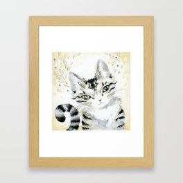Curiosity Cat Framed Art Print