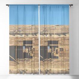 Desert Shack Sheer Curtain