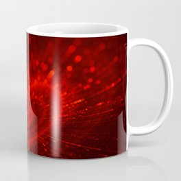 Cupid's Arrows | Valentines Day | Love Red Black Heart Texture Pattern Coffee Mug