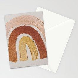 Vintage rainbow painting Stationery Cards