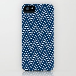 Navy Skinny Chevron iPhone Case