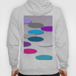 Cool Colors - Large Ovals - Digial Design - Pretty Colors Hoody