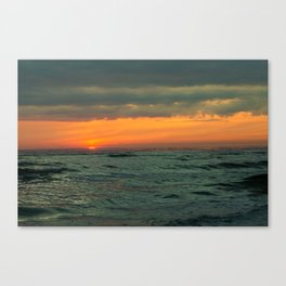 sunset over the Baltic Sea Canvas Print