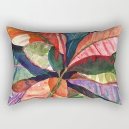 Colorful Tropical Leaves 1 Rectangular Pillow