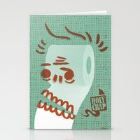 toilet Stationery Cards featuring Toilet Paper by YONIL