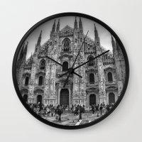 milan Wall Clocks featuring Milan Duomo by Cristina Serrano