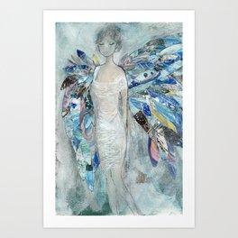 Christmas Angel Wings Art Print