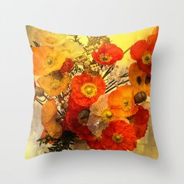 Poppy Expressions Throw Pillow
