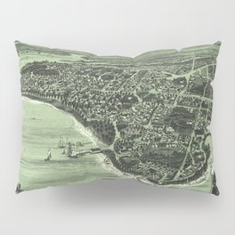 Vintage Pictorial Map of Onset Bay MA (1885) Pillow Sham