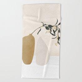 Couple Of Vases Beach Towel