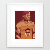 true blood Framed Art Prints featuring True Blood - Lafayette/Blade by Mike Wrobel