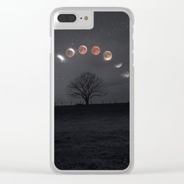 Super blood wolf moon - total lunar eclipse 2019 Clear iPhone Case