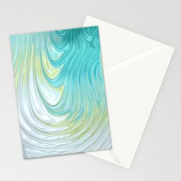 Teal Dreams Collection (2) - Fractal Art  Stationery Cards