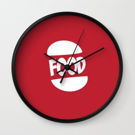 FOOD logo fun generic food logo Wall Clock