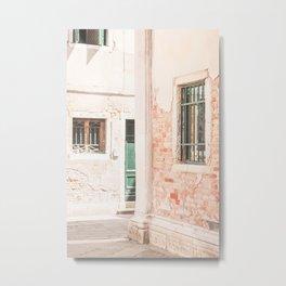 432. Destroy Wall, Venice, Italy Metal Print