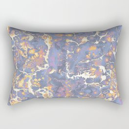 Complementary Paint Marble Rectangular Pillow