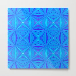 231 - Abstract blue pattern Metal Print